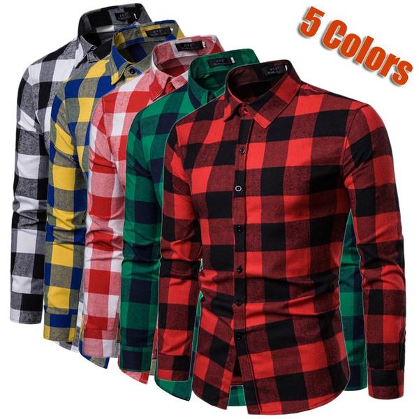 Turn-down Collar, plaid shirt, plaid, flannelshirt