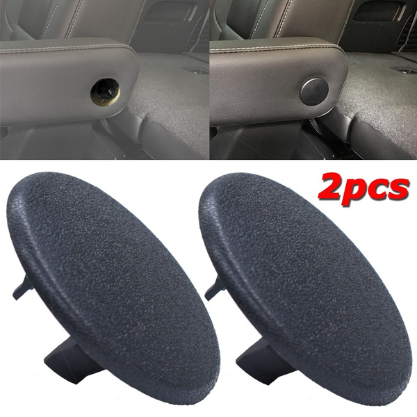 Black Cadillac Escalade Seat Parts Armrest Cap Cover for 07-19 Chevy Tahoe Yukon Suburban Replaces OEM GM 15279689 Left or Right Rear Bucket Seats Arm Rest Handle Trim Bolt Vehicle Accessories