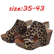 wedge, Plus Size, leopard print, fish