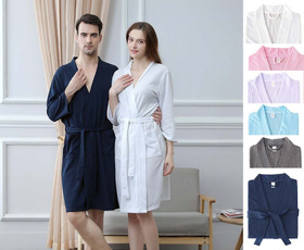 women's pajamas, bathrobesformen, wafflebathrobe, couplewear