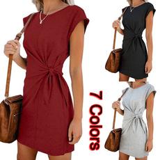 Shorts, Necks, Sleeve, Dress