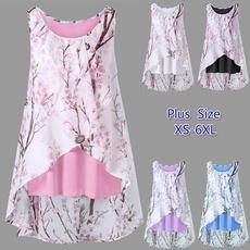 Plus Size, Floral print, Shirt, partyshirt