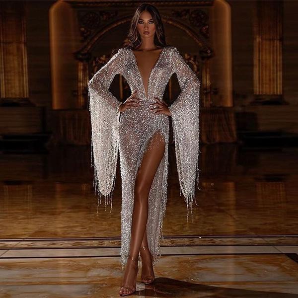 sequinedlongeveningmaxidre, deepvperspectivedre, long dress, Dress