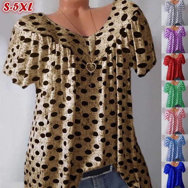 blouse, Summer, Polyester, Fashion