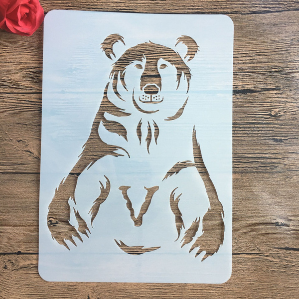 Decorative, stencil, Wall, Bears