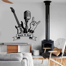 Stickers, walltattoo, Microphone, art