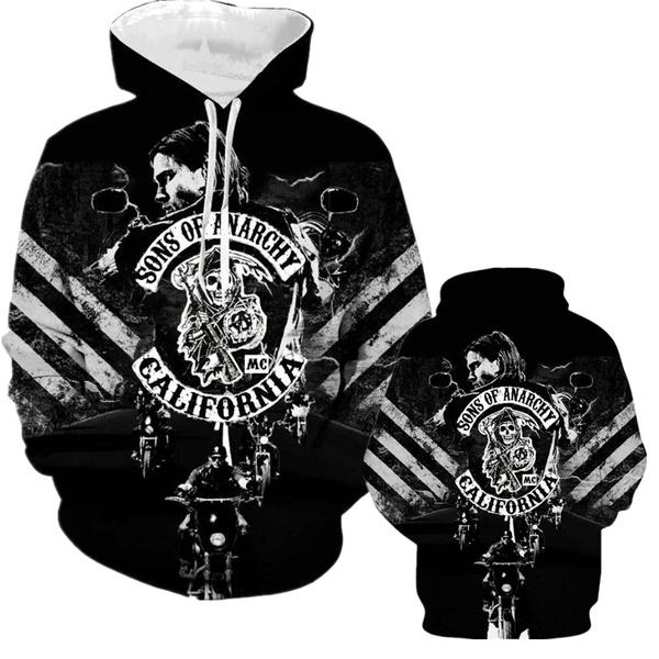 anarchy, Plus Size, pullover hoodie, Sweatshirts & Hoodies