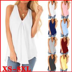 Summer, Plus Size, chiffon, Shirt