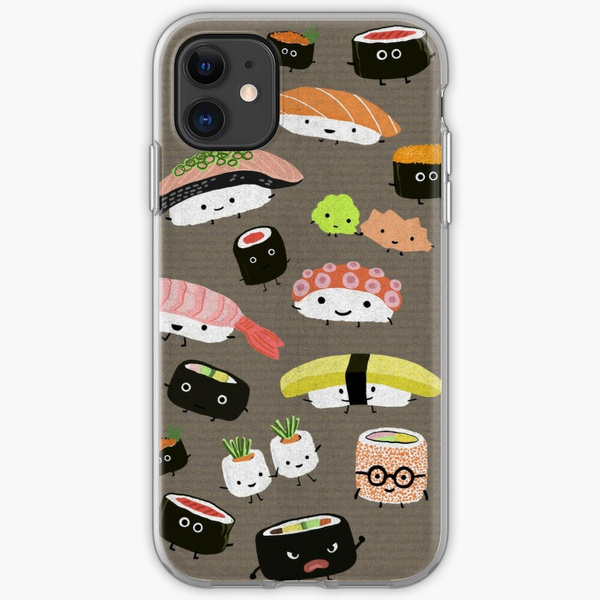 Kawaii Sushi Party iSoft Case For iPhone 7 8 6 6s Plus 5S 4 Silicone Clear Cover For iPhone X Xs 11 Pro Max XR | Wish