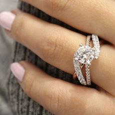 DIAMOND, wedding ring, gold, sterling silver