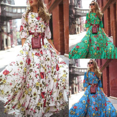 bigswing, Swing dress, lanternsleeve, chiffon