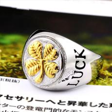 Clover, sakering, 18k gold, Jewelry