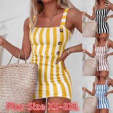 Mini, slim dress, Vest, Plus Size
