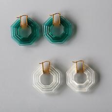 goldplated, Copper, Jewelry, Stud Earring