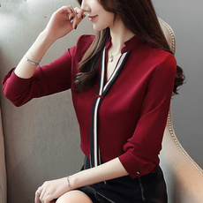 blouse, Moda, Manga, Office