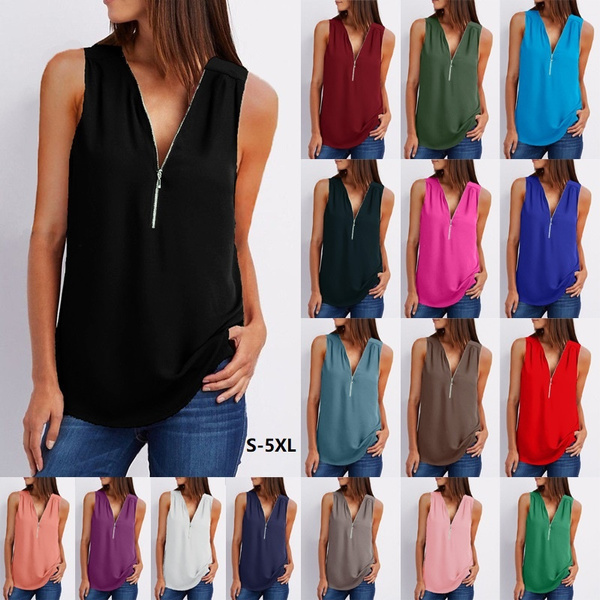 Deep V-Neck, Fashion, chiffon, V-neck