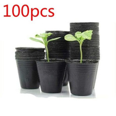Plants, householdplantnutritionpot, blackplasticplantnutritionpot, softplantnutritionpot