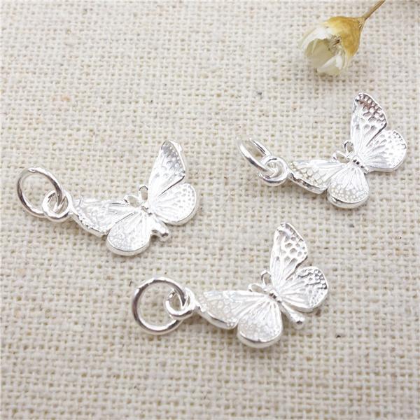 butterfly, 925steringsilverbutterfly, pendantforbracelet, charmforjewelrymaking