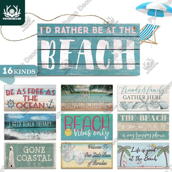 beachshopdecor, hangingplaque, woodensign, Wooden