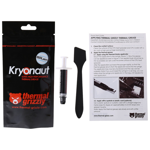 Thermal Grizzly Kryonaut 1g For Cpu Intel Processor Heatsink Fan Compound Cooling Thermal Paste Cooler Thermal Grease Vin Wish