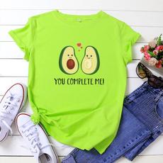 female shirt, Plus size top, Woman clothes, Cotton T Shirt
