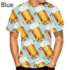 Summer, roundnecktshirt, Personalized T-shirt, 3dprintedtshirt