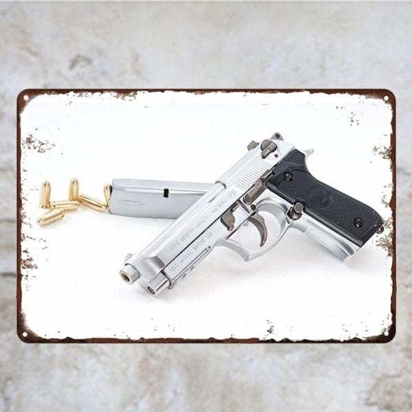 pistolmetaltin, pistol, Gifts, Vintage