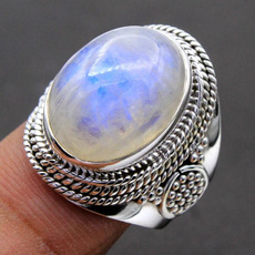 Sterling, moonstonering, Jewelry, 925 silver rings