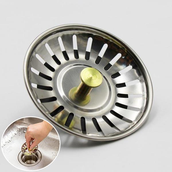 1pc Stainless Steel Kitchen Sink Strainer Basket Waste Filter Wish