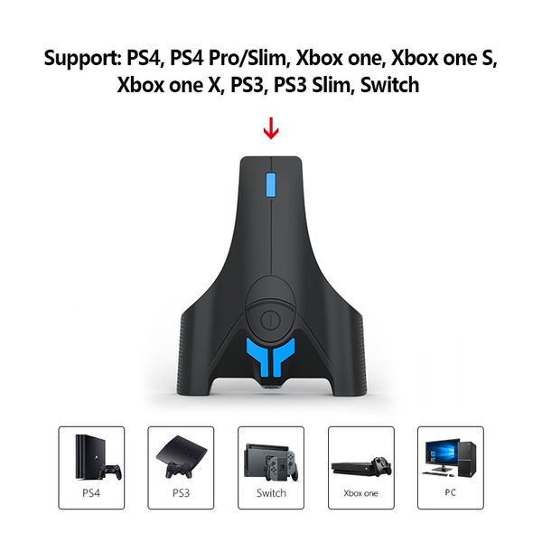 Keyboard And Mouse Adapter Converter With 3 5mm Headphone Jack For Nintendo Switch Ps4 Xbox One Ps3 Console Wish