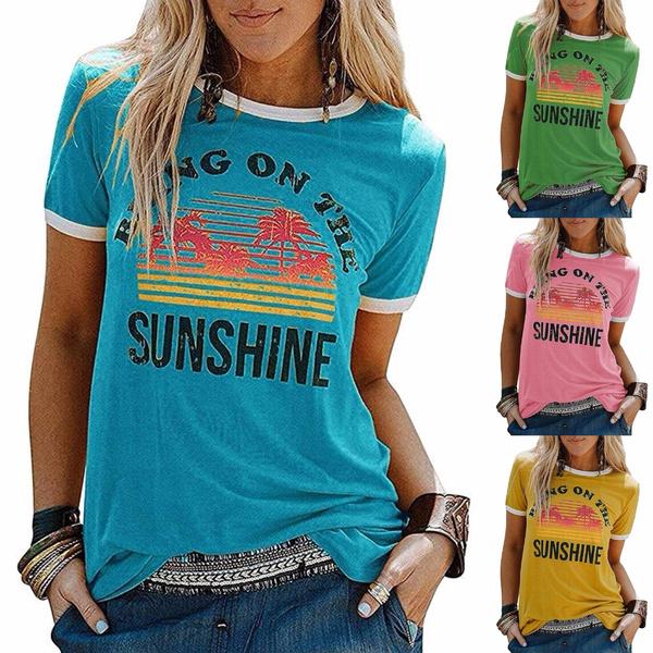 Summer, Bright, summer t-shirts, Cotton Shirt