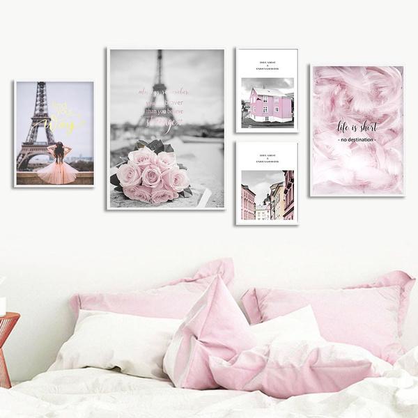 pink, Decor, posters & prints, Wall Art
