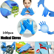 Blues, latex, rubberglove, Cleaning Supplies