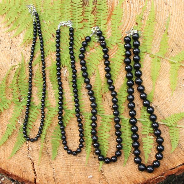 tumbled, shungite, rosary, Jewelry