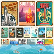 surf, Decor, Surfing, metalpainting