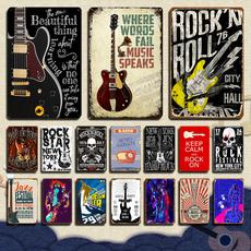 Decor, metalsign, musicstyle, Vintage