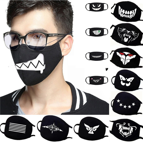 Funny, mouthmask, mouth, Cloth