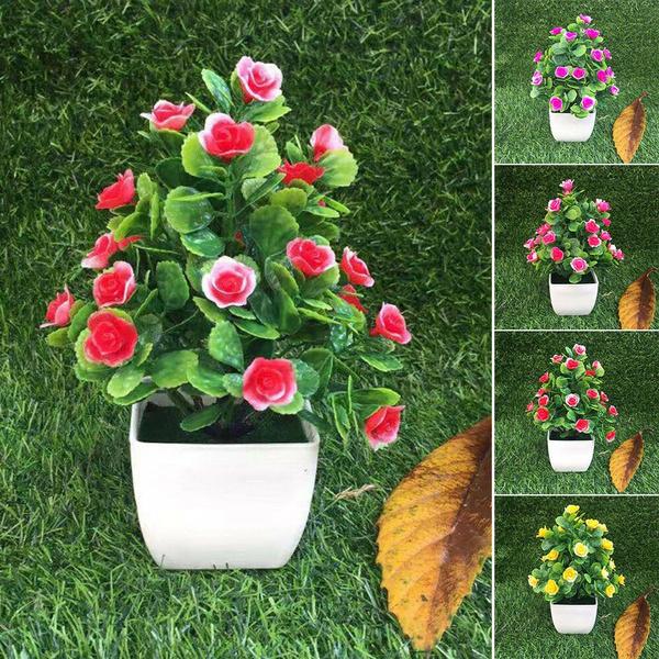 Flowers, bonsaiplant, greenplantartificial, simulationpot