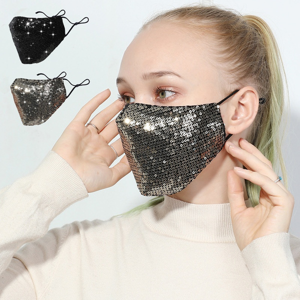 Fashion, dustmask, sequinmask, Sports & Outdoors