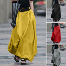 summer skirt, Cotton, high waist, maxi skirt