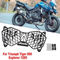 Camisin Motorrad Scheinwerfer Grille Licht Abdeckung Schutz Folie f/ür Triumph Tiger 800 2010-2017 und Explorer 1200 12-17 Schutz