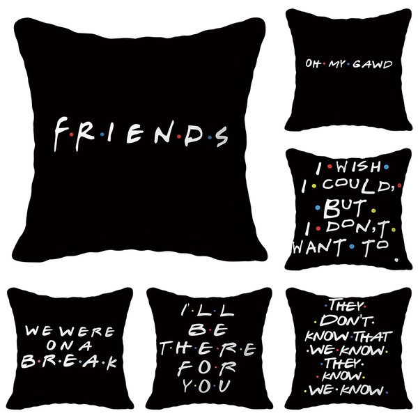 Home Decor Polyester Friends TV Show Pillow Covers Cushion Cover Pillow Cases