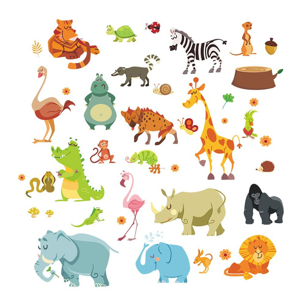animalswallsticker, Home Decor, homedecal, Stickers