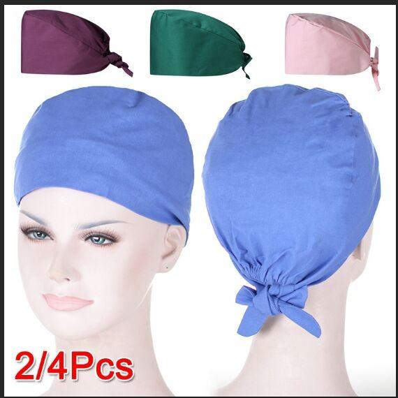 Scrub Cap Surgical Scrub Cap Medical Doctor Bouffant Turban Cap with Sweatband Scrub Hat for Women//Men