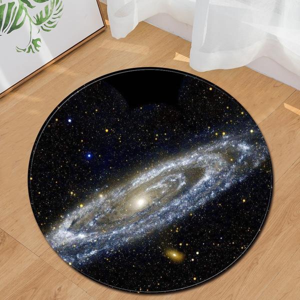 living, Yoga, doormat, universe