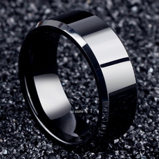 blackgoldring, Steel, Fashion, Women Ring