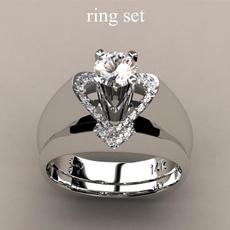 Heart, Fashion, Women Ring, 925 silver rings