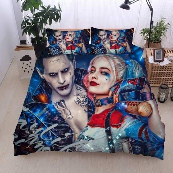 Fashion, beddingsetsqueen, harleyquinn, Bedding