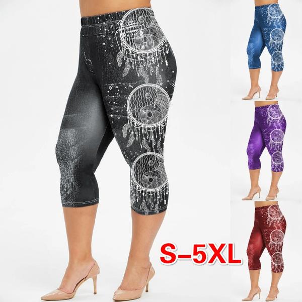 Leggings, Plus Size, Floral print, jeggingsshort