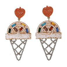 Jewelry, Ice Cream, bohemianearringsearring, pearls